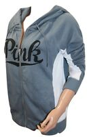 VICTORIA'S SECRET Pink Perfect Full Zip Hoodie Small NWT Gray/White