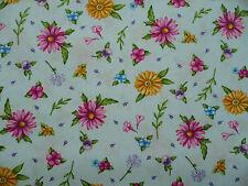 Cotton Material - Wild Flowers - 55 x 25 cm