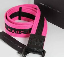 NEW WITH TAGS BY MARC JACOBS COTTON STRIPE BELT ONE SIZE NWT NEON PINK