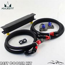 7 row ENGINE OIL COOLER KIT FOR BMW MINI COOPER S SUPERCHARGER R53 black