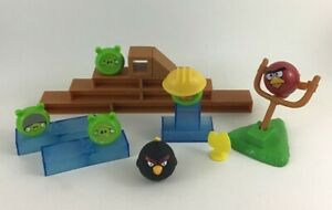 Angry Birds Knock On Wood Catapult Game Build Launch Destroy 24pc Set Launch