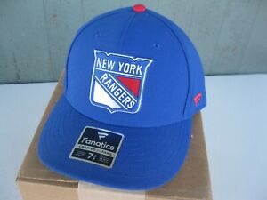 Men's New York Rangers Fanatics Branded Blue Power Play Fitted Hat 7 1/8 NEW!