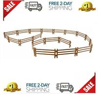 TOYMANY 20PCS Horse Corral Fencing Accessories Playset, Plastic Fence 20pcs