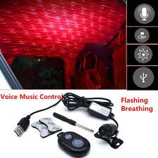 Starry Sky LED Star Light Car Interior USB Ceiling Lamp Music Control+Remote Kit
