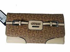 GUESS Elettra SLG Trifold Clutch Wallet New NWT Mocha