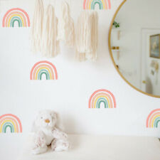 Rainbow Wall Decals - Hand Drawn Rainbow Wall Sticker, Boho Rainbow