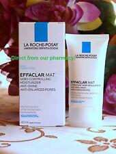 La Roche-Posay Effaclar MAT sebo-regulating  moisturizer . REDUCE PORES .40ml