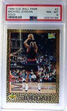 1996 96 Upper Deck Ball Park Franks Gold Michael Jordan #2, PSA 8, pop 1 only 8^
