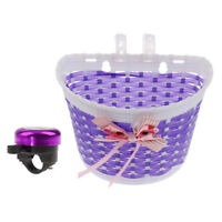 Bicycle Kids Girls Boys Children Child Front Basket + Ring Bell Cycle Horn