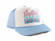 Vintage Miami Vice Trucker Hat mesh hat snapback hat baby blue