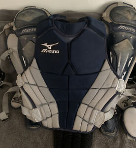 Mizuno Intermediate Catchers Chest Pad & Leg Gaurds Navy Blue