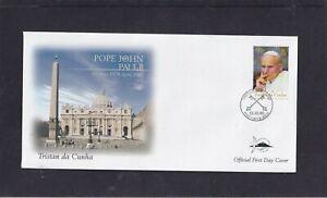Tristan da Cunha 2005 Pope John Paul II Commemoration First Day Cover FDC