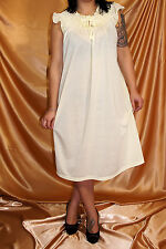Feines Baumwolle Nachtkleid / Nachthemd / Babydoll mit Flügelärmeln Gr. 40-56