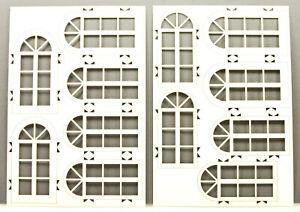 te-miniatur 6445 Lasercut Fenstersatz 4 weiß (1:32 1:35 / Spur 1)