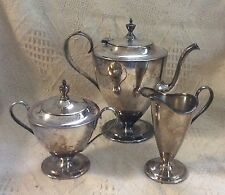 Vintage Forbes S.P. Co. Silverplate 3 Piece Coffee/Tea Set #259