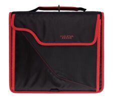 New Listingfive Star 850 Sheet 3 Ring Zipper Binder Black And Red Binder 12 34in X 12 34