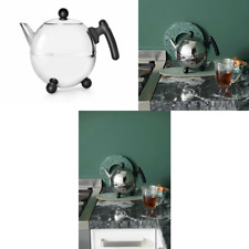 Bredemeijer 1.5 L Stainless Steel Teapot Bella Ronde, Black
