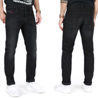 Diesel Mens Slim Fit Vintage Black Stretch Denim Jeans | Thommer 069BG