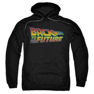 Back To The Future Movie Logo Licensed Unisex Hoodie Jumper - Black