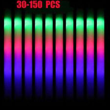 30-150X Light Up Led Foam Sticks Glow Wands Rally Rave Batons Flashing Party Dj