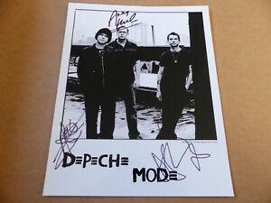 DEPECHE MODE signed Autogramm signiert auf 20x25 cm Foto