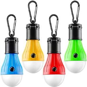 1/4pcs Portable LED Camping Tent Light Bulb Outdoor Hanging Lantern Hiking Lamp