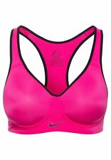 NIKE PRO RIVAL HIGH SUPPORT DRI FIT SPORT BRA  SIZE 30DD HOT PINK RACER BACK