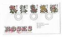 UK Royal Mail First Day Cover Roses 1991 Edinburgh