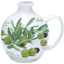EasyLife 500ml Porcelain Olive Oil Design Bottle with Cork Stopper - Boxed