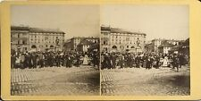 Oslo Christiania Place Norvège Norge Norway Photo Stereo Vintage Albumine