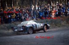Sandro Munari & Piero Sodano Lancia Stratos HF Rally Rac 1978 fotografía 1