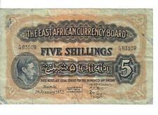EAST AFRICA, 5 SHILLINGS, KGVI, 1952