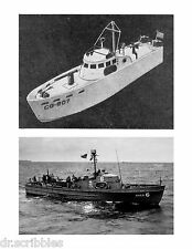 Model Boat Plan 83 Foot U.S.C.G. Patrol Boat 1/48 & 1/32 Scale F/S Plans on Cd