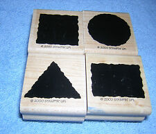 Stampin' Up Little Shapes Solid Set:  4 Rubber Stamps:  Crafting or Art Projects
