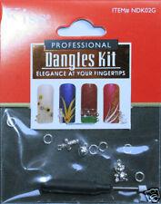 3 Piercing bijou Ongle Argenté & mini perceuse Kiss silver Nail Art