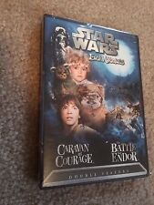 STAR WARS EWOK ADVENTURES CARAVAN OF COURAGE BATTLE FOR ENDOR DVD RARE OOP