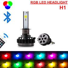 2x H1 Car LED Headlight Kit RGB Driving Fog Bulbs APP Bluetooth Control hyauto