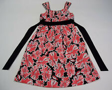 SPEECHLESS GIRLS SIZE 14 DRESS CORAL & BLACK FLORAL PRINT FLOWERS