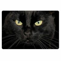 Black Cat Face Anti-Skid Floor Area Rug Bedroom Bathroom Mat Room Home Carpet