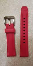 Shinola 20mm Wide Red Rubber Strap
