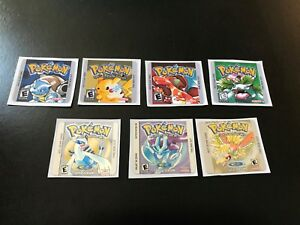 Gameboy Pokemon Gen I & II Replacement Label Decal Sticker Nintendo Cartridge
