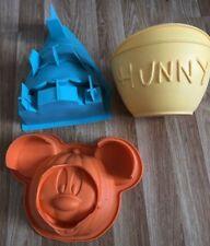 Disney Cake Sweet Magazine Silicon Mould PUMPKIN Winnie Pooh Hunnypot XMAS TREE