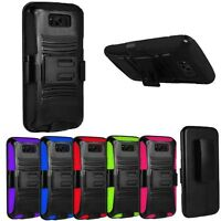 For Samsung Galaxy S8 Plus Shockproof Rugged Armor Case Belt Clip Holster Cover