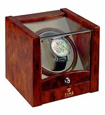 Time Tutelary Single 1 Watch Winder Ka079 Burl Finish