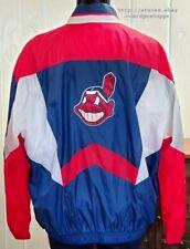 MLB Cleveland Indians Starter Full Zip Long Sleeve Wind Breaker Jacket Sz XXL