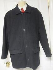 Fall Winter Brooks Brothers Men Gray Wool Zipper Coat Size L