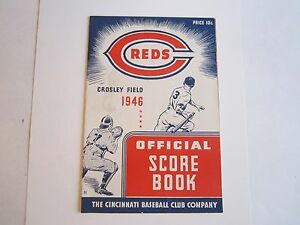 1946 CINCINNATI REDS OFFICIAL PROGRAM & SCORE CARD - OFC-2