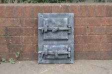 29.7 x 41.9 cm ancien en fonte feu/pain four porte/portes/cheminée/argile/range/pizza