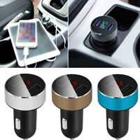 Car Charger Dual USB 3.1A Adapter Cigarette Lighter LED Voltmeter For Cell Phone