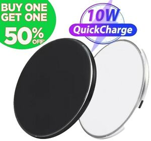 Qi Wireless Fast Charger Charging Pad Dock for iPhone 8 X XR 11 12 Samsung S9 S8